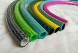 Flexible renforcé tressé par fibre de boyau de jardin de PVC