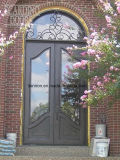 Voordeuren van de Ingang van het Smeedijzer van de veiligheid de Sier voor Huis