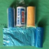 ロールの多彩なプラスチックHDPEのごみ袋