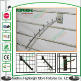 Ganchos de acero galvanizado Slatwall mostrar para la fabricación de prendas de vestir