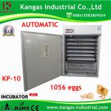 Meilleur approuvé de la CE vendant l'incubateur automatique d'oeuf de caille (KP-10)