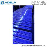 18PCS 3W RGB 3in1 Wand-Unterlegscheibe-Stab-Streifen-Park-Garten-Brücken-Licht des Pixel-SteuerIP65 LED