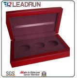 Деревянная коробка для вставки бархата коробки значка монеток (Bc375)