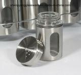 Botella de cristal de la especia de la venta del abrigo caliente del acero inoxidable con el estante