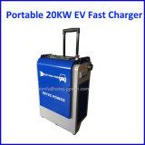 Зарядная станция DC быстрая EV портативной черни 20kw