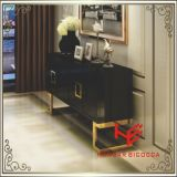 Tabella moderna del lato della Tabella di tè della Tabella della mobilia della mobilia dell'hotel della mobilia della casa della mobilia dell'acciaio inossidabile del Sideboard del tavolino da salotto della Tabella di sezione comandi (RS160602)