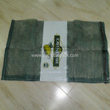 PP L costura bolsa de malla con etiqueta impresa