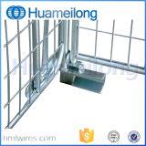 Draht-Rahmen mit hölzernem Ladeplatten-Maschendraht-Behälter