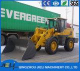 Nuevo cargador con sistema hidráulico de la hoja de limpieza de nieve en carretera.
