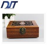Rectángulo de regalo de madera del almacenaje de la joyería del palo de rosa de la alta calidad