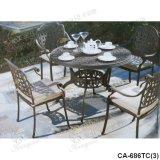 Cadeira de mesa de alumínio fundido, móveis de exterior, Ca-686