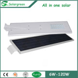 Luz de calle solar de la linterna del LED con la batería LiFePO4 2 años de garantía