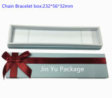 Rectángulo de joyería blanco del regalo del papel de la cartulina para la pulsera