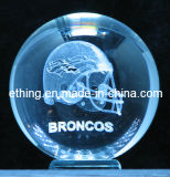 Decoration Pieces Gift를 위한 3D Laser Solid Glass Crystal Ball
