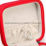 Cadre de bijou en cuir rouge de type de mode