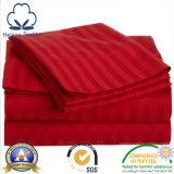 Tissu de l'hôtel 100%/à la maison/de l'hôpital de coton literie avec la piste de satin de 0.5cm/1cm/3cm