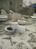 أبيض رخاميّة حجارة نحت نافورة ([س-ف062])