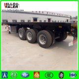 40FT 3 Assen 12.5m Flatbed Aanhangwagen van de Vrachtwagen van het Bed van de Aanhangwagen van de Container Vlakke