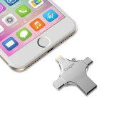 Tipo-c interfaz 128GB Pendrive 4 del relámpago del USB Microusb en 1 mecanismo impulsor del USB para el androide de MacBook del iPhone