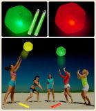Resplandor pelota de playa con el palillo (STQ3030)