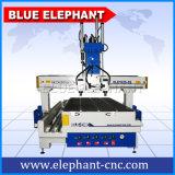 木版画のための3つのスピンドルが付いている機械装置を切り分けるEle1325 3軸線Atc CNC木