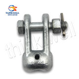 Toma de galvanizado de acero forjado de horquilla para el hardware de la línea de polos