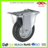Roulette industrielle en caoutchouc noir de 6 po (L101-11D150X40A)