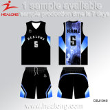 Uniformi di pallacanestro di qualsiasi di formati degli abiti sportivi di disegno di modo di Healong attrezzo uomini di sublimazione