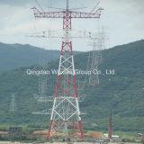 Grande torretta dell'acciaio dell'incrocio della portata di energia della trasmissione lunga di distribuzione