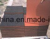 Azulejo elástico respetuoso del medio ambiente del patio, azulejo de goma al aire libre del piso