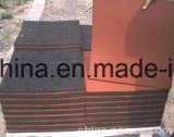 Azulejo elástico de borracha de pátio elástico, azulejo de borracha ao ar livre