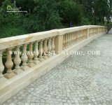 Jardín al aire libre Railling de la piedra arenisca de la barandilla de la barandilla exterior natural del puente que ajardina la piedra de los apoyabrazos