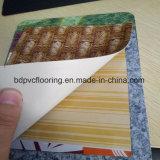 Hoja de cuero PVC piso vinílico y rodillos de alimentación de la fábrica de alfombras