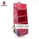 New Style Crimp Papier / Carton B-Flute Floor Display Stand / Pop Display