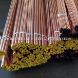 tubo de cobre flexible de 8m m para el gas médico