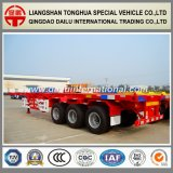 Reboque esqueletal vermelho do recipiente de Ctsm 3-Axles 40FT Semi