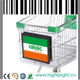 Carrinho de compras carrinhos de supermercado da estrutura da placa de Publicidade
