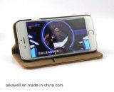 Première caisse de cuir de vache à couche d'OEM de cas de bonne qualité de téléphone portable pour la couverture de téléphone portable de Se de l'iPhone 5