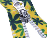 패턴과 엄지 끌어당기는 사람 또는 최상 인쇄를 가진 Vislon 지퍼