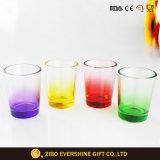100ml ronda sobredimensionado fondo coloreado Shot de la copa de cristal