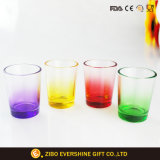 100ml特大円形の着色された底小グラスのコップ