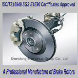 Disques de frein du chariot avec TS16949 Certificat Certificat et de la SGS et E1certificat