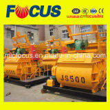 Mezclador concreto del pequeño eje gemelo de Js500 500L con la capacidad 25m3/H
