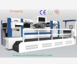 Máquina que corta con tintas hidráulica automática llena del sellado de oro