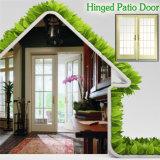 EE.UU. rotura térmica de aluminio con bisagras de la puerta de alta privada End House, puerta de entrada con Hermoso Grille Dividido