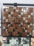 内部の床デザインのための自然な磨かれた大理石のクリスタルグラスのモザイク