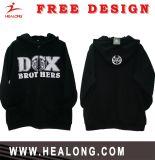 Healong cortar e costurar com logotipo de enfeite Zipper Hoddy&Suéter
