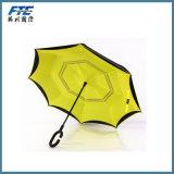 逆の傘の二重層によって逆にされる日よけの傘