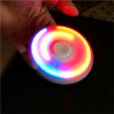 Girador claro da mão da roda do esforço do EDC do ABS do diodo emissor de luz do girador do dedo do girador da inquietação para brinquedos do foco do relevo de esforço da ansiedade de Adhd do autismo dos miúdos