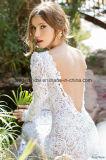 Robes de mariage formelles nuptiales de sirène de lacet de robes de V-Cou profond Z2067
